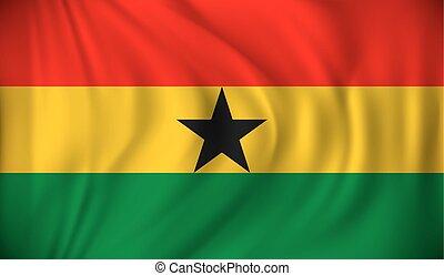 Flag of Ghana - vector illustration