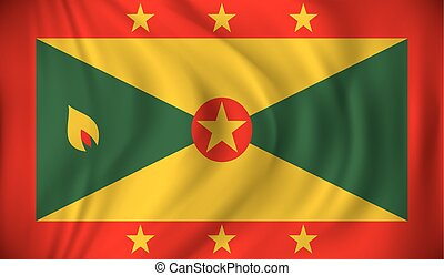 Flag of Grenada - vector illustration