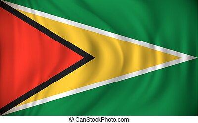 Flag of Guyana - vector illustration