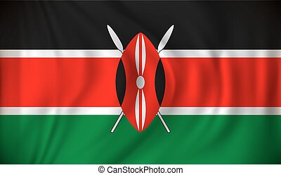 Flag of Kenya - vector illustration