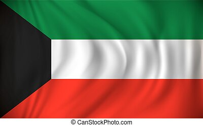 Flag of Kuwait - vector illustration