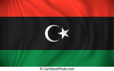 Flag of Libya - vector illustration