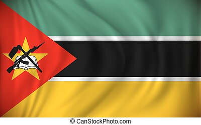 Flag of Mozambique - vector illustration