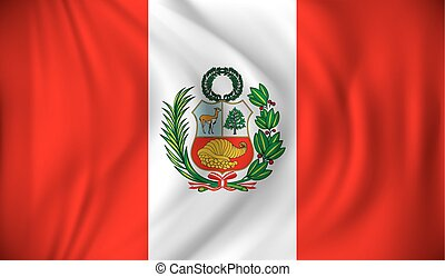 Flag of Peru - vector illustration