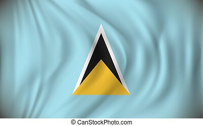 Flag of Saint Lucia - vector illustration
