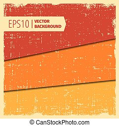 Set of grunge vector background in layers and border