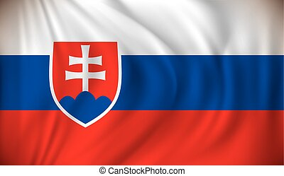 Flag of Slovakia - vector illustration