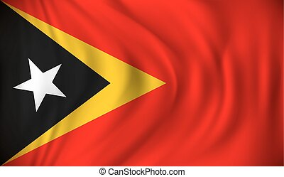 Flag of Timor-Leste - vector illustration