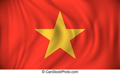 Flag of Vietnam - vector illustration