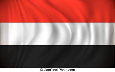 Flag of Yemen - vector illustration