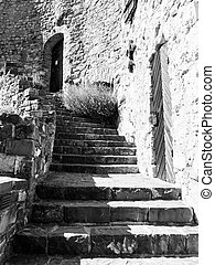 Old castle stairs
