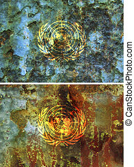 united nations flag - some very old grunge flag of united...