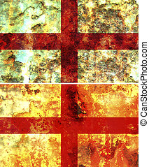 england flag - some very old grunge flag of england