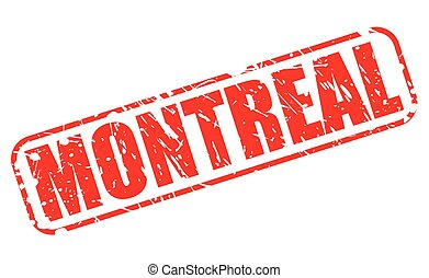 MONTREAL red stamp text on white
