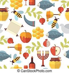 Jewish New Year Rosh Hashanah Pattern - Jewish New Year Rosh...