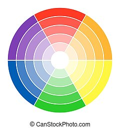 Color circle 6 colors - round color circle with six colors...