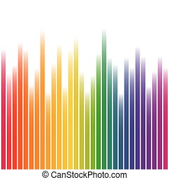Colorful background stripes on white - Background with wave...