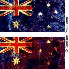 australia flag - some very old grunge flag of australia