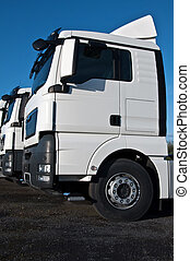 white large truck with copy space - photo of white large...