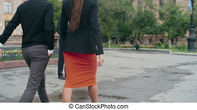 Business People Greeting - Business people greeting each...