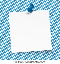 Oktoberfest background - empty note - little sticky paper...