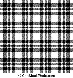Checkered tablecloths pattern endlessly - black - seamless...