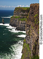 famous cliffs of moher seascape from the west ireland