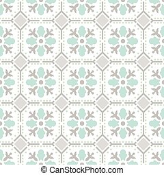 Seamless vintage background. Victorian ornament tile in vector.