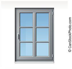 gray vector window - modern detailled gray vector window...
