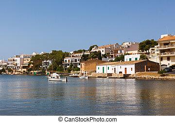 Landscape of Porto Petro in Mallorca, Spain