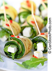 Zucchini appetizers