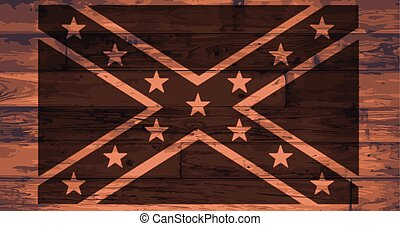 Confederate Flag Brand - California State Flag branded onto...