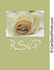 white rose card - print and post - RSVP - white rose card...