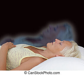 Female Astral Projection Experience - Female lying supine...