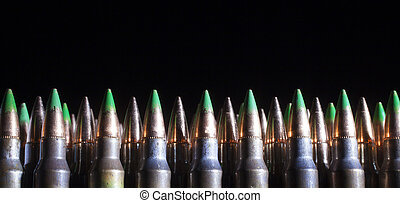Armor piercing loads - Green tipped cartridges that are...
