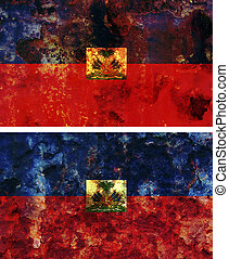 haiti flag - some very old grunge flag of haiti
