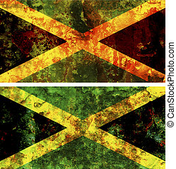 jamaican flag - some very old grunge flag of jamaica