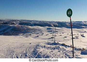 Norwegian skiing landscape
