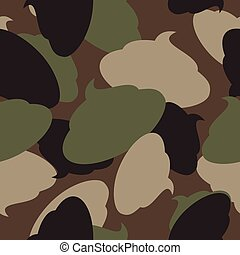 Army pattern of turd Military camouflage texture Vector shit...