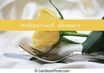 yellow rose card - print and post - rehearsal dinner -...