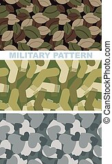 Set of military camouflage texture Army pattern of dumplings...