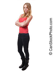 young skinny woman