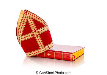 sinterklaas, livro,  mijterand
