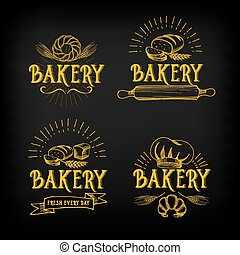 Bread and bakery design. Sketch, doodle vector. - Bread and...