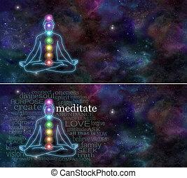 Chakra, meditación, cósmico