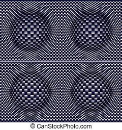 3D Design warped balls pattern