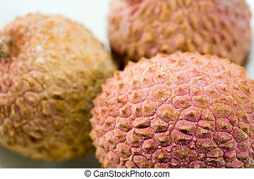 litchis with white background