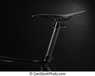 racing bike seat and frame - Stock Image - shot of a modern...