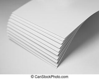Sheets of paper fanned out - Stock Image - Close up shot of...
