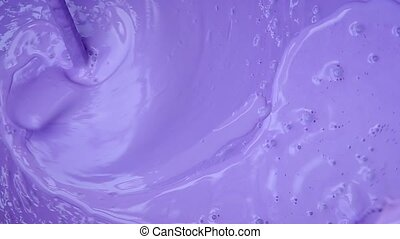 Mixing purple color with a drill